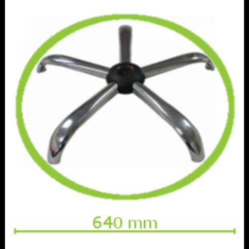 Krómozott acél lábcsillag közepes és nagy méretű forgószékekhez d.640/P.11