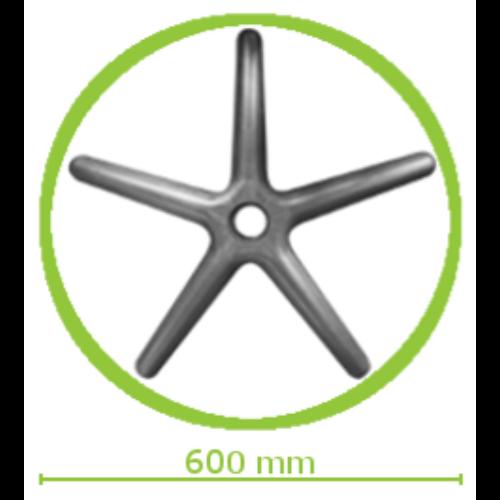 Műanyag lábcsillag kis méretű forgószékekhez d.600/P.10