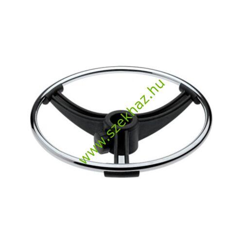 Lábtartó ring, fekete/krómozott