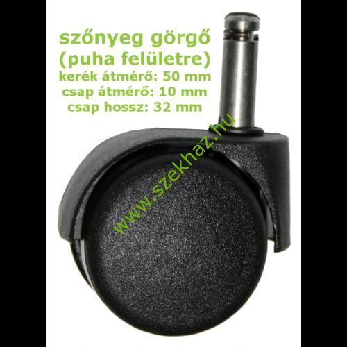 Szőnyeg görgő puha felületre d.50/P.10
