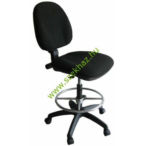 1040 MEK ERGO BA840 fekete szövet magas ülésmagasságú forgószék, lábtartó gyűrűvel és talpkoronggal