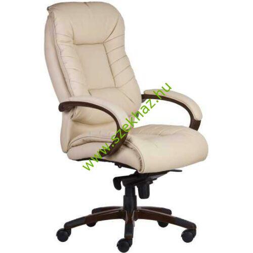 BUFFALO drapp műbőr vezetői szék több ponton rögzíthető mechanikával